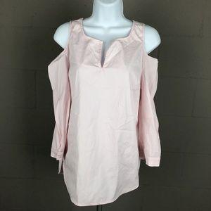 NYDJ Women's Long Sleeve Blouse Size XS Pink RK11